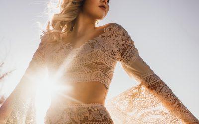 Boho Hochzeitskleid _Zweiteiler