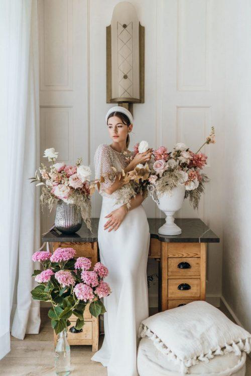 Cleanes und modernes Hochzeitskleid Fit &Flare